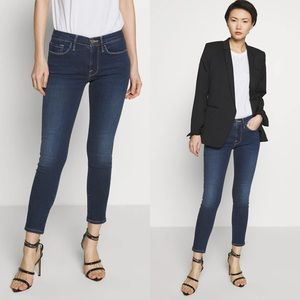 FRAME Le Skinny de Jeanne Ripped Crop Jeans NWT